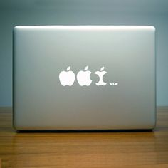 Apple evolution Decal White (by FAB UK)