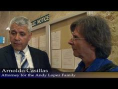 Jan 8, 2014 JCAL / Sam Euston had the opportunity to briefly talk with Arnoldo Casillas (attorney for the Andy Lopez Family) after he filed additional claims on behalf of Andy's parents.  Attorney Casillas explained a little bit about the filing procedures, and shared a few of his observations.