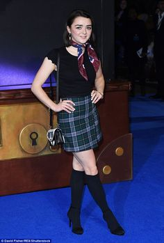 """Look darling like Maisie with a Karl Lagerfeld bag  Click """"Visit"""" to buy #DailyMail"""