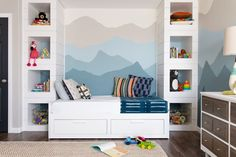 Full size of ikea hemnes daybed living room in images kids transitional with wall murals nursery Playroom Design, Nursery Design, Blue Playroom, Playroom Ideas, Cama Ikea Hemnes, Best Ikea, Kid Spaces, Space Kids, Small Space