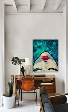 Michelle - Blog #Home #Color : #Colorful #Paintings Fonte : http://www.allmodern.com/Oliver-Gal-Watercoveted-Canvas-Wall-Art-10324-ALIV1504.html