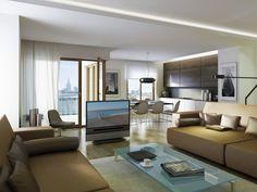 Wizualizacja mieszkania w Capital Art Apartments, więcej informacji na http://www.caapartments.pl/.