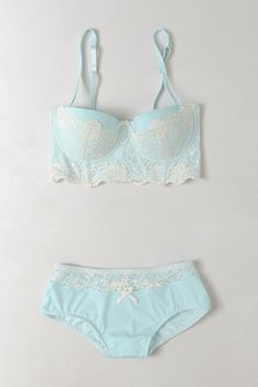 """""""Something blue"""" bridal lingerie."""