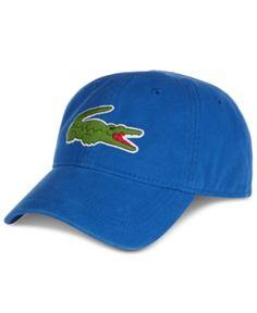 0963a108da4 Lacoste Men s Large Croc Gabardine Cap - Blue