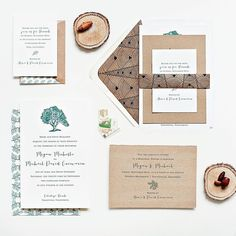 Its all about textures and colors perfect for rustic wedding themed. Go follow @suitepaperie for more beautiful wedding invitations! by weddingcard