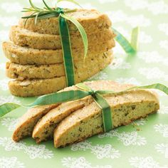 Hazelnut & Rosemary Biscotti. Herb-flavored crisp biscotti is not-too-sweet alternative to other cookies. Gotta try this.