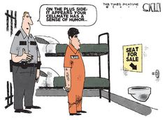 funny prison pic | Rod Blagojevich in Jail - Political Cartoon