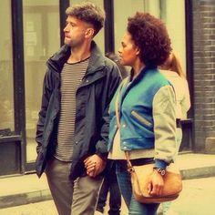 natural hair interracial love <3