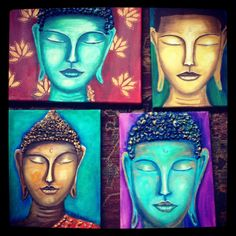 Buddha oil painting by Angie Brown