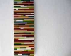 Wooden Wall Art, Wall Decor, Abstract Wood Art, Colorful Wall Art