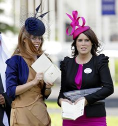Princesses Beatrice and Eugenie at Royal Ascot