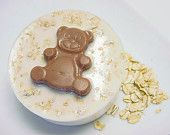 Almond, Milk and Honey Teddy Bear Soaps Goats Milk- Set of Four Soaps