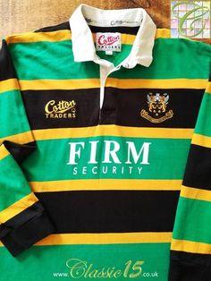 Official Cotton Traders Northampton Saints home rugby shirt from the season. Rugby Kit, Northampton Saints, Rugby Shirts, Outfit Grid, Sport T Shirt, Jordan Retro, Air Jordans, Shirt Designs, Nike