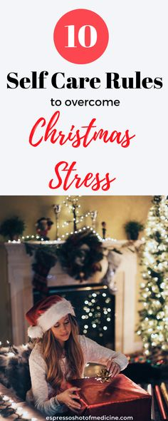 How to Deal with Overwhelming Christmas Stress | Reduce holiday stress with these health self-care tips. How to have a stress-free Christmas, while planning for the holiday season, how to prevent being overwhelmed during the holidays and have a joyful Christmas.