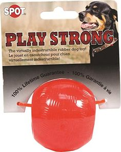 Ethical Pets Play Strong Virtually Indestructible Rubber Ball Dog Toy ** Visit the image link more details. (This is an affiliate link and I receive a commission for the sales) Kong Dog Toys, Dog Chew Toys, Pet Toys, Red Play, Nursing Supplies, Buy Pets, Dog Diapers, Dog Travel
