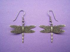 Gift idea Christmas birthday Dragonfly Earring by DesignsByMaral