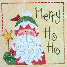 Lizzie Kate Snippet S08 MERRY HO HO Christmas - Counted Cross Stitch Pattern Chart. $3.75, via Etsy.