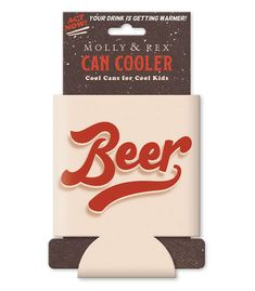 Molly & Rex's Can Coolers: Each brightly colored, neoprene can cooler sleeve fits a standard aluminum drink can, wrapped flat on a marketing card insert with, butterfly hole for hanging Can cooler with marketing card insert measures x Cool Sleeves, How To Get Warm, Coolers, Bright Colors, Drink Sleeves, Cool Kids, Drinking, Beer, Butterfly