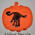 Scaredy Cats Welcome {Handprint Halloween Craft}