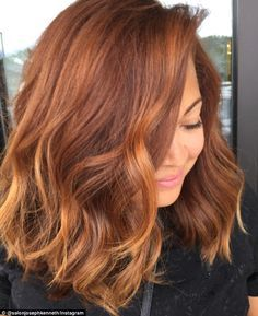 Redheads: Women are dying their hair a coppery orange color for fall and calling it 'pumpkin spice hair'