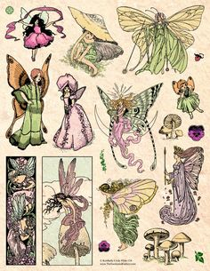 Photo Wall Collage, Collage Art, Pretty Art, Cute Art, Art Sketches, Art Drawings, Fantasy Drawings, Arte Sketchbook, Vintage Fairies