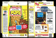 Here's a Kellogg's Sugar Corn Pops box from 1981. The premium is an instant winner gamepiece for a chance to win an Odyssey2 Video Game. There is also a 'Play football with Poppy' cutout on the back. It's a shame so much of Poppy is obscured on the f Find Hundreds of the Latest Sweepstakes & Contests Updated Daily. Start Winning Cash & Prizes Today! http://sweepstakes13.com/register