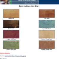List of concrete color charts to view color samples for colored concrete for stains, dyes, color hardeners, and integral colors. Concrete Stain Colors, Stained Concrete, Outside Sheds, Patio Images, Color Charts, Brick Patios, Garden Inspiration, Ceiling Ideas, Floors