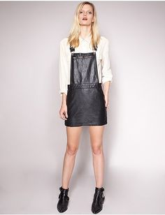 NEED This Leather Suspender Dress!!!