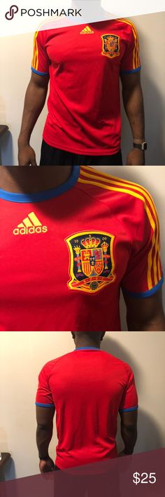 SPAIN INSPIRED POCKET BADGE DISTRESSED LOOK BOYS GIRLS T SHIRT FOOTBALL EURO