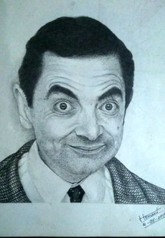 #BEAN #MR-BEAN #COMEDIAN  #HEMANT-YADAV-PAINTING #DRAWING #PORTRAIT #6B