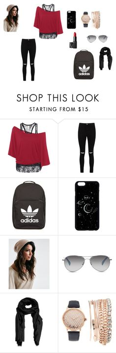 """""""Roxy's chloths"""" by eleonora83 on Polyvore featuring Boohoo, adidas, TOMS, Violeta by Mango, Jessica Carlyle and NARS Cosmetics"""