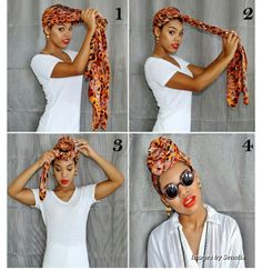 How to tie scarf on braids