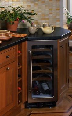 Craftsman Kitchen with built in wine cooler Kitchen Pantry, New Kitchen, Kitchen Appliances, Kitchen Cabinets, Craftsman Kitchen, Craftsman Style, Best Wine Coolers, Built In Wine Cooler, Wine Fridge