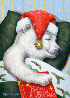 Diamond Painting Santa Hat Bear Paint with Diamonds Art Crystal Craft Decor Christmas Teddy Bear, Christmas Animals, Christmas Pictures, Christmas Snowman, Winter Christmas, Vintage Christmas, Christmas Crafts, Xmas, Illustration Noel