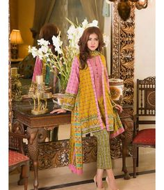 Signature Icon Embroidered Lawn Collection 2016 ZS_11B