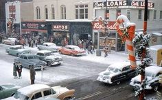 Downtown Marion, Christmas Eve, 1958.  Photo from Ellen Strayer-Leach.