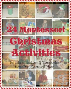 A few years ago I did a series called 12 Days of Montessori Christmas. Each day I shared a Montessori Christmas themed activity for infant/toddlers and pre Montessori Practical Life, Montessori Preschool, Montessori Education, Montessori Materials, Toddler Preschool, Christmas Activities For Toddlers, Winter Activities, Toddler Christmas, Toddler Fun