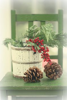 pinecones and berries by lucia and mapp, via Flickr