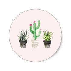Shop Desert Succulent Cactus Favor Stickers - Stone created by PinkHousePress. Watercolor Hand Lettering, Watercolor Design, Watercolor Illustration, Cactus Wedding, Love Birds Wedding, Watercolor Succulents, Watercolor Cactus, Watercolour Painting, Wedding Favor Labels
