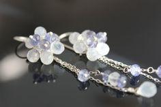 Moonstone flower earrings on Etsy, $48.00