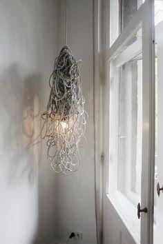 kabelsalat lampe Berlin Apartment of Karena Schuessler Lamp Light, Light Up, Diy Light, Light Fixture, Corporate Design, Berlin Apartment, Interior Inspiration, Design Inspiration, Deco Luminaire