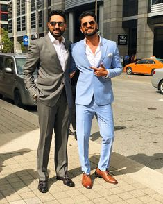 How dapper does they two man look💯 . Mens Fashion Suits, Mens Suits, Blazer Outfits Men, Men Blazer, Stylish Men, Men Casual, Man Crush Everyday, Tuxedo For Men, Bollywood Stars