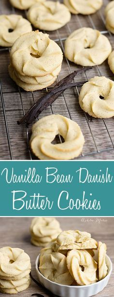 traditional danish butter cookies made with vanilla beans. Crisp, buttery, melt in your mouth delicious, a recipe everyone will love