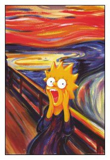 Krzyk - the Scream - Edvard Munch: Lisa Simpson parody Edvard Munch, Lisa Simpson, Le Cri Munch, Scream Parody, Pop Art, 8th Grade Art, Sally Nightmare Before Christmas, Simpsons Art, Famous Artwork