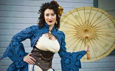 Woweewowowza, check out Offbeat Bride Tribe member Adrianna in her fantabulous steampunk wedding dress. She recently did a photo shoot with photographer, Thomas Doggett at the Illinois Railway Museum and. Steampunk Wedding Dress, Steampunk Dress, Steampunk Clothing, Steampunk Fashion, Asian Steampunk, Victorian Steampunk, Steampunk Pirate, Anime Wedding, Geek Wedding