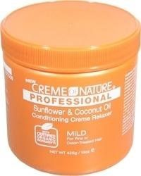 Creme of Nature Professional Relaxer Jar Sunflower and Coconut Oil Mild 15 oz