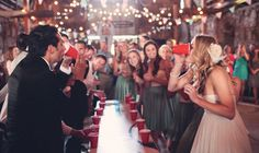 Weddings are all about celebrating, so you actually want people to have fun at the event! Here are some really cute and creative ways to have a good time at any wedding reception.