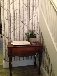 My cole and son woods wallpaper in my hall