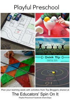 Playful Preschool Activities for Ages 3-5 from Top Bloggers #EDUSpin #Preschool