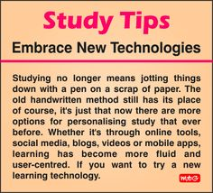 Use New Technology To Study Faster.